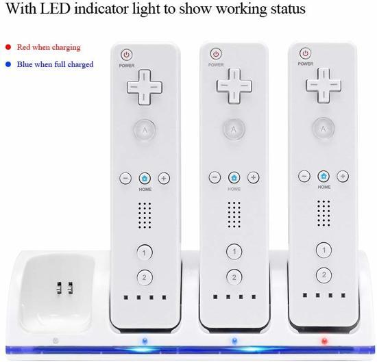 4-Poorts Oplaadstation voor Wii Controller - Kleur: Wit kopen