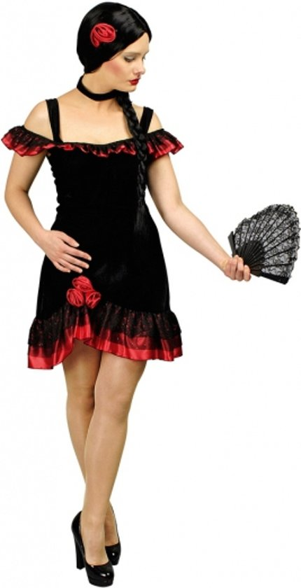 Spaanse flamenco jurk incl. accessoires 36/38