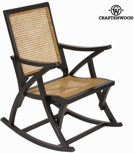 Schommelstoel van rotan zwart by Craften Wood