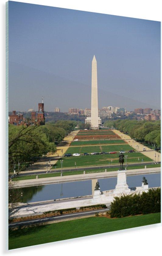Uitkijkend naar de National Mall Plexiglas 80x120 cm - Foto print op Glas (Plexiglas wanddecoratie)
