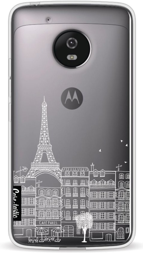 Casetastic Softcover Motorola Moto G5 - Paris City houses White