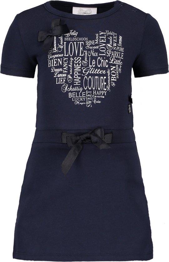 Le Chic Meisjes Jurk - blue navy - Maat 80
