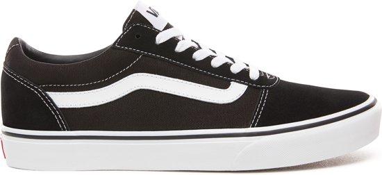 Vans Mn Ward Heren Sneakers (Suede Canvas) BlackWhit Maat 46