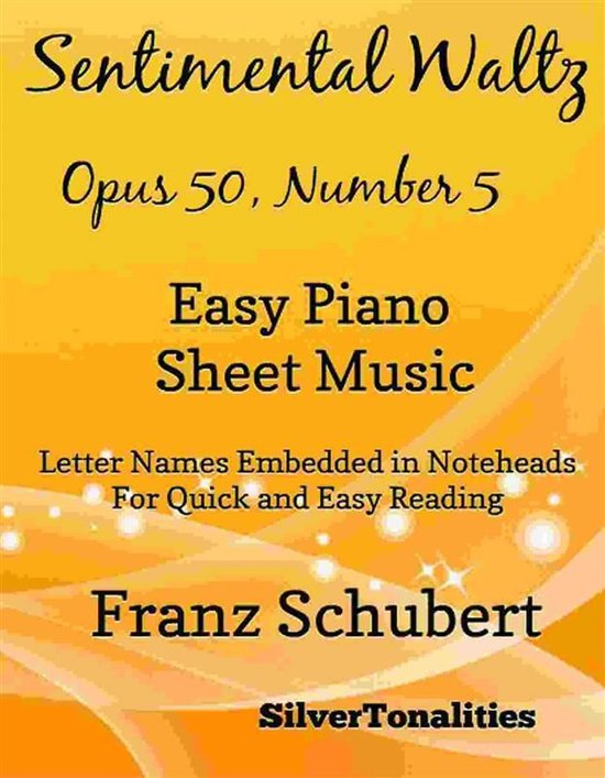 Sentimental Waltz Opus 50 Number 5 Easy Piano Sheet