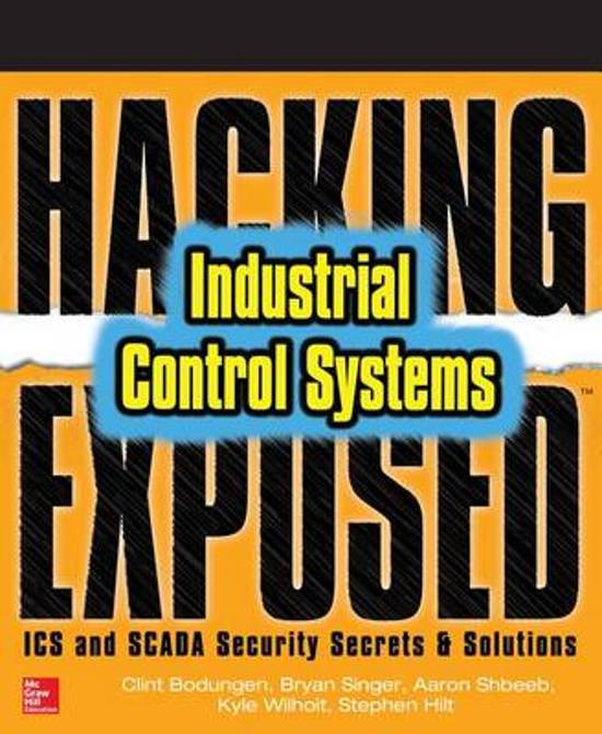 Boek cover Hacking Exposed Industrial Control Systems van Clint Bodungen (Paperback)