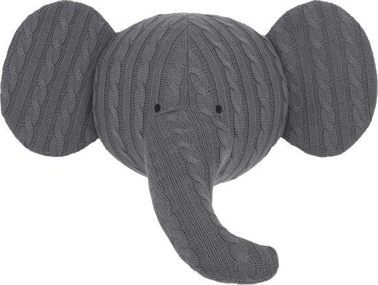 bolcom jollein dierenkop wanddecoratie olifant grijs