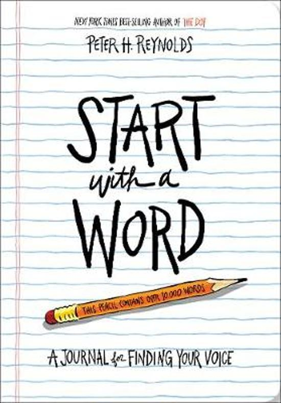Boek cover Start with a Word (Guided Journal) van Peter H. Reynolds (Paperback)