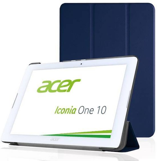 Acer Iconia One 10 B3-A20 Tri-Fold Book Case Donker Blauw