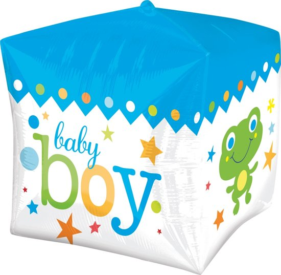 Cubez Baby Boy Folieballon - 38cm