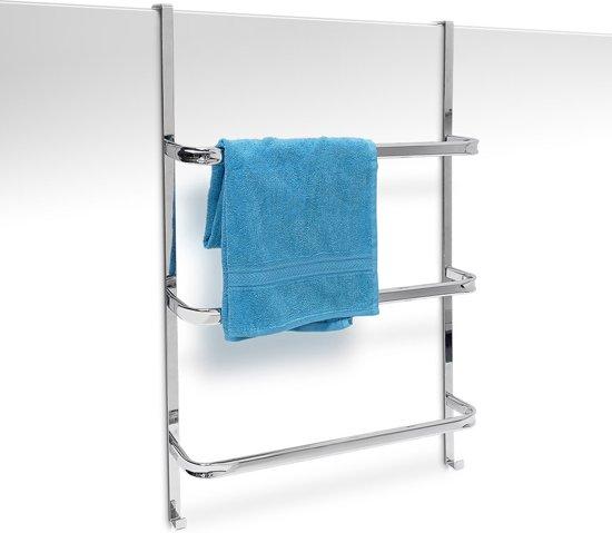Bolcom Relaxdays Handdoekenhouder Voor Deur Hangende