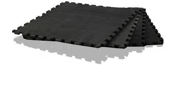 Gymstick - Fitnessmat - Puzzelmat - 120 x 120 cm - Zwart
