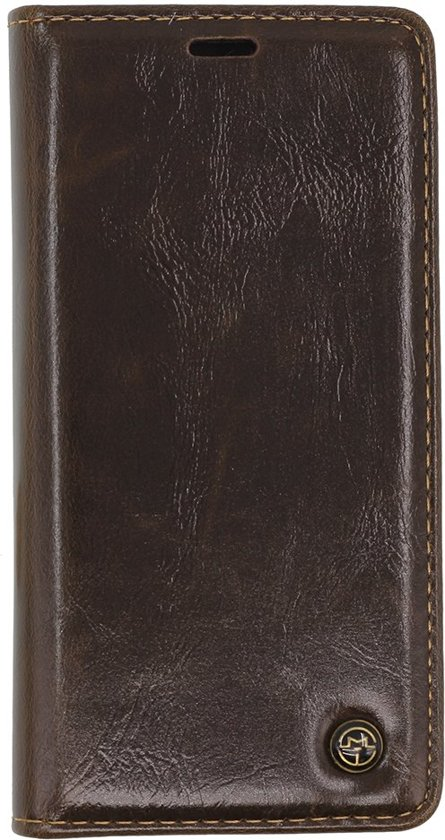 Caseme - iPhone Xs Hoesje - Wallet case Cabello Bruin