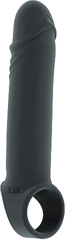 Sono – Penis Sleeve Koker voor Optimale Stimulatie en Balriem van Hoog Kwaliteit 15 cm - Grijs