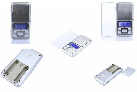 Mini precisie weegschaaltje / keuken weegschaal 0,1 tot 500 gram