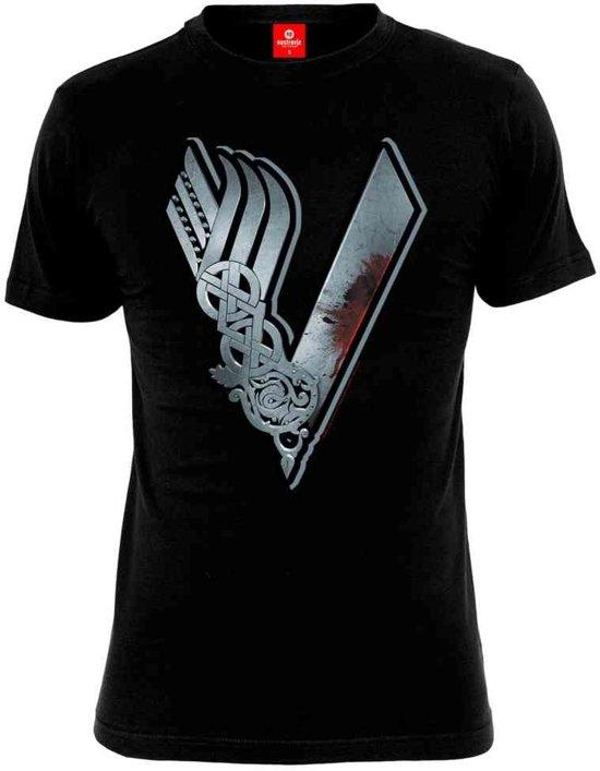 Vikings Logo T-Shirt zwart - M