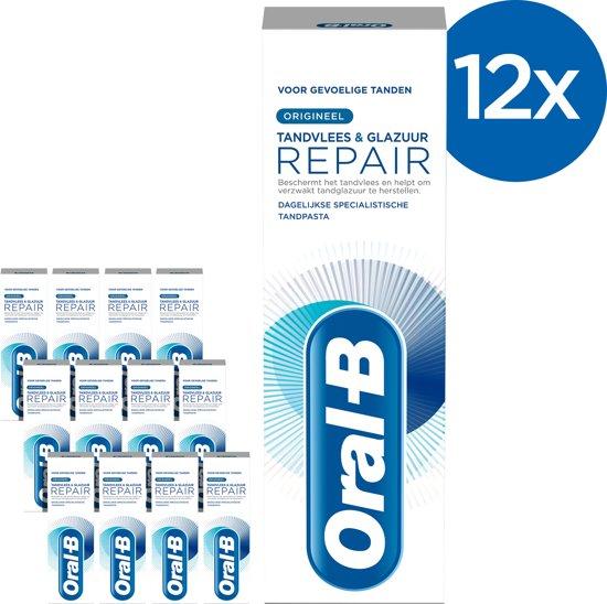 Oral-B Tandvlees & Glazuur Repair Origineel Tandpasta - Voordeelverpakking - 12x75ml