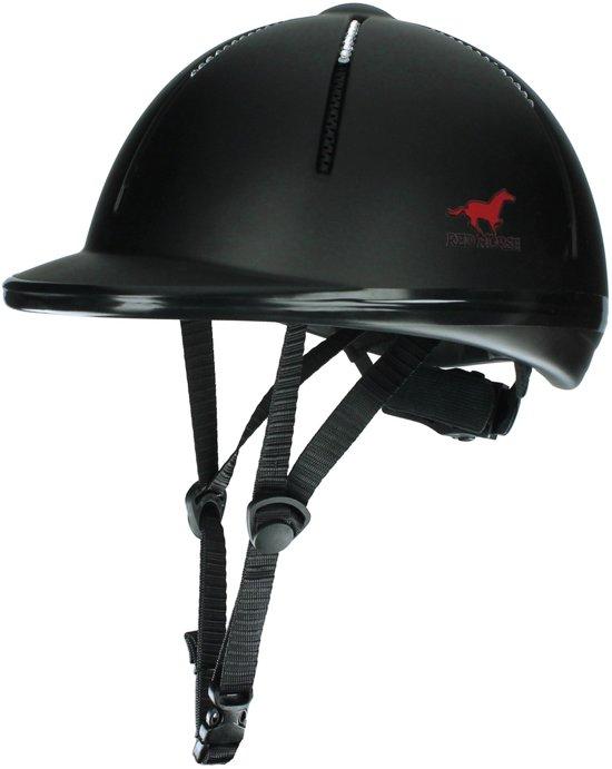 Red Horse Rider Strass - Veiligheidshelm - Zwart/Strass - mt. S/M