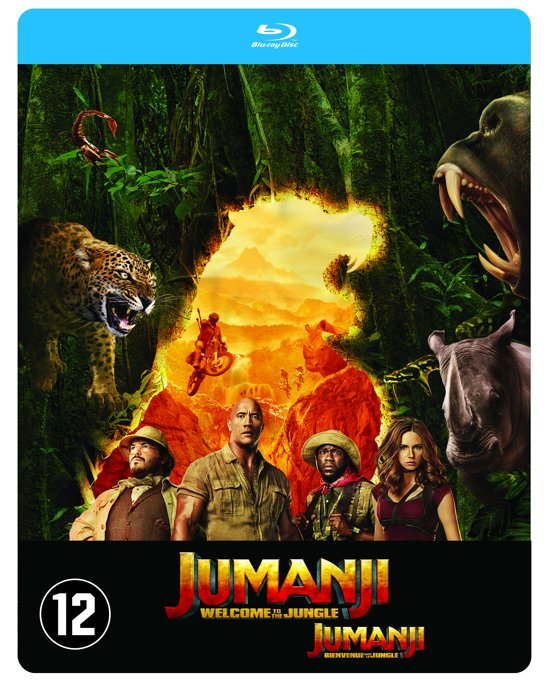 DVD cover van Jumanji: Welcome to the Jungle (Blu-ray) (Steelbook Edition)
