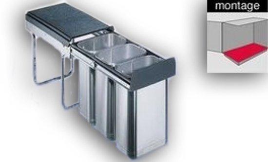 Wesco Trenta Inbouw Prullenbak - 3 x 10 l