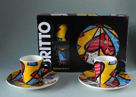 Romero Britto - espresso set for 2