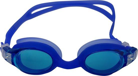 3cd6a423865d00 Tunturi Zwembril - Swimming goggles - Kinder zwembril - Junior - Siliconen  - Transparant/Blauw