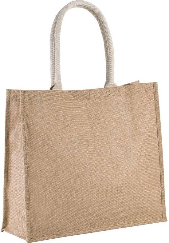fb3d664c079 Jute naturel/beige strandtas 42 cm - Strandartikelen beach bags/shoppers
