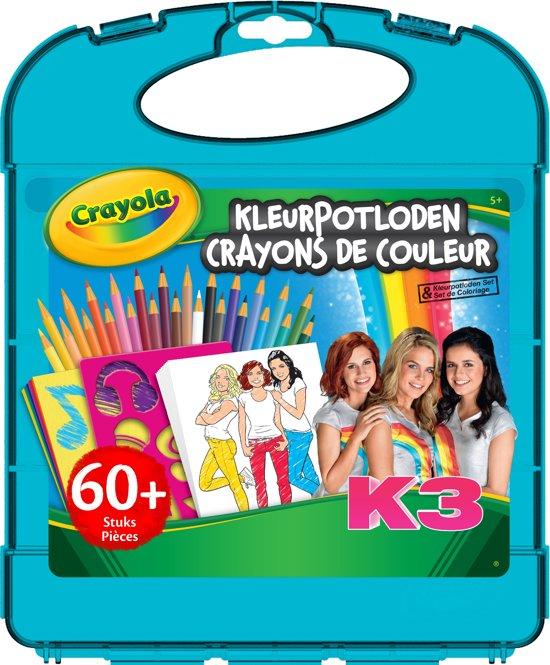 Kleurplaten K3 Marthe Klaasje Hanne.Bol Com K3 Kleurpotloden Tekenkoffer Crayola Speelgoed