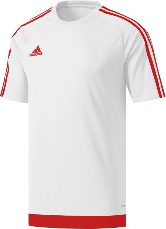 adidas Estro 15 Sportshirt - Maat 152  - Unisex - wit/rood