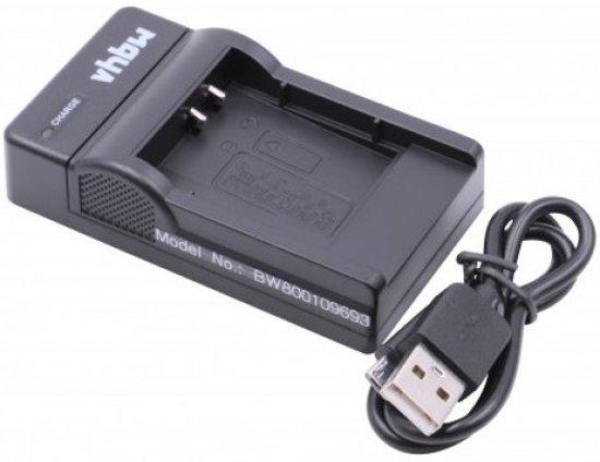 VHBW Acculader compatibel met o.a. Nikon EN-EL11, Olympus Li-50B, Li-60B, Li-90B, Li-92B en Sony NP-BK1, NP-BY1 en NP-FK1 accu's