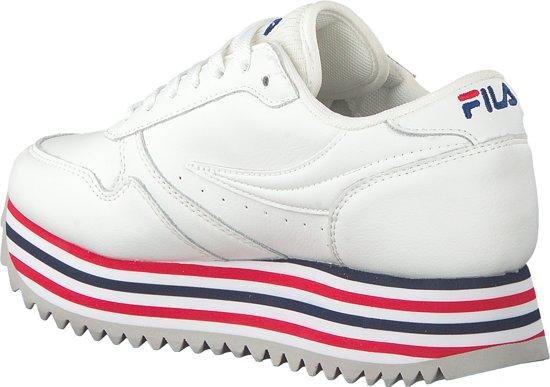 Fila Orbit Zeppa Stripe Wmn 1010667-02p, Vrouwen, Wit, Sneakers Maat: 41 Eu