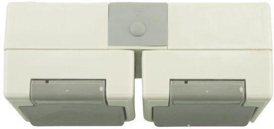 Nautic Opbouw Stopcontact - 2-voudig - Spatwaterdicht - Randaarde