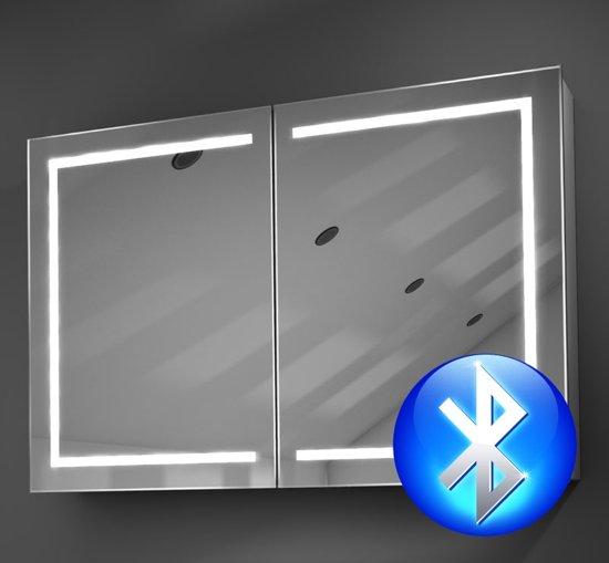 bol.com | 90 cm brede verwarmde badkamer spiegelkast met LED en ...