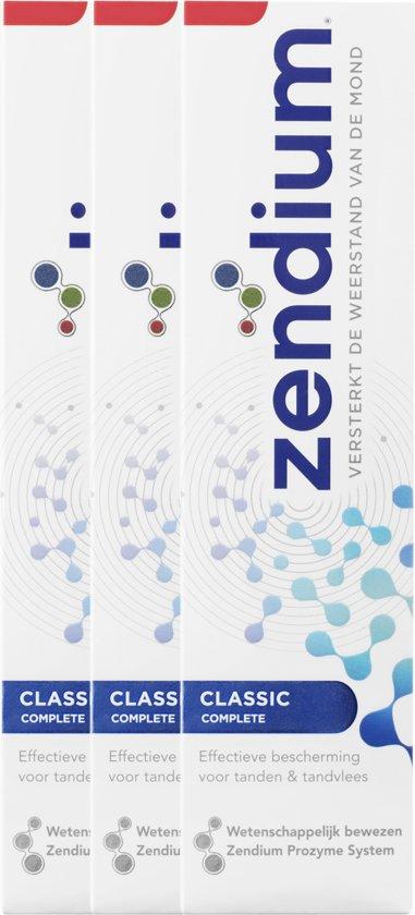 Zendium Classic - 75 ml - Tandpasta - 3 stuks - Voordeelverpakking
