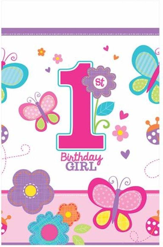 Wonderbaar bol.com   Tafelkleed plastic 1e verjaardag meisje, Merkloos LU-19