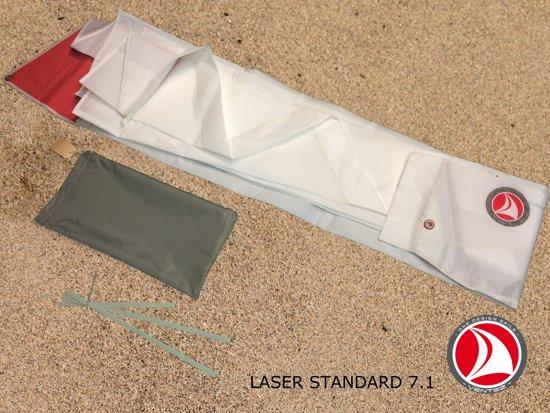 Ventoz Laser Standard Zeil COMPLEET (7.1 m2) - Rode Patches