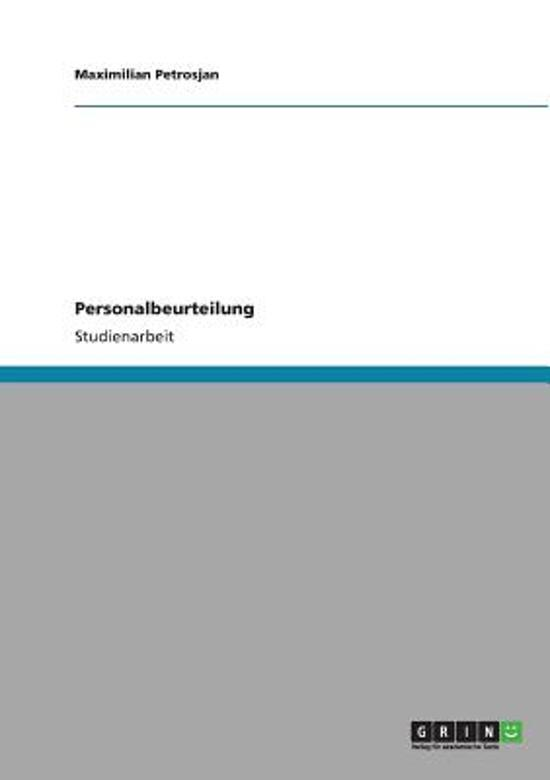bol.com | Personalbeurteilung, Maximilian Petrosjan | 9783640825646 ...