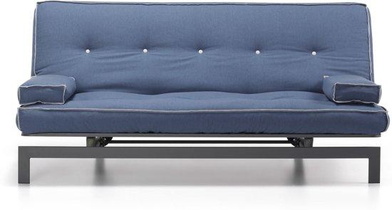 Kave Home Joy Slaapbank - Blauw - 195x90x100-130 cm