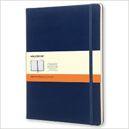 Moleskine Classic Notebook, Extra Large, Ruled, Prussian Blue, Hard Cover (7.5 X 10)