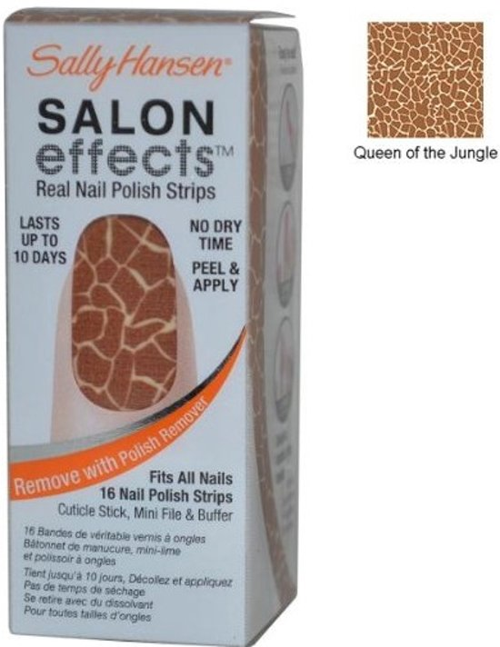 Sally Hansen Salon Effects Real Nail Polish Strips - 460 Queen Of The Jungle - Nagelstickers