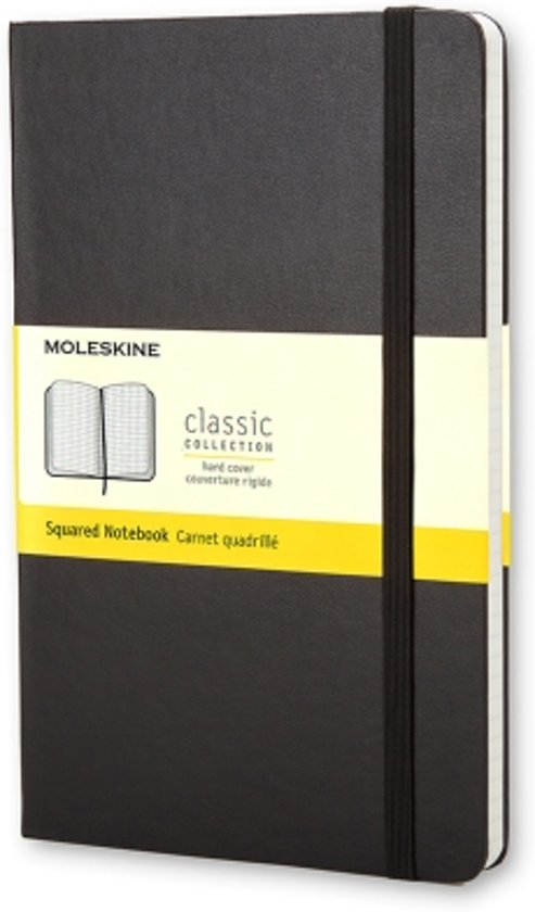 Moleskine Classic Notebook - Pocket - Squared - Hard Cover - Black
