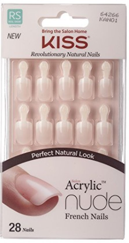 bol.com | KISS revolutionary natural nails salon acrylic french nude ...