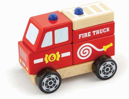 Viga Toys - Stapel Auto - Brandweer