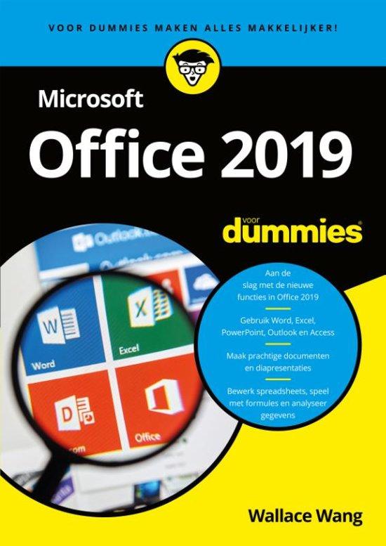 Boek cover Microsoft Office 2019 voor Dummies van Wallace Wang (Paperback)