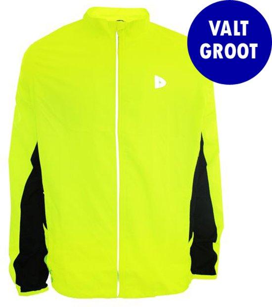 Donnay Hardloopjas - Running Jacket - Heren - Maat XL - Fluo geel