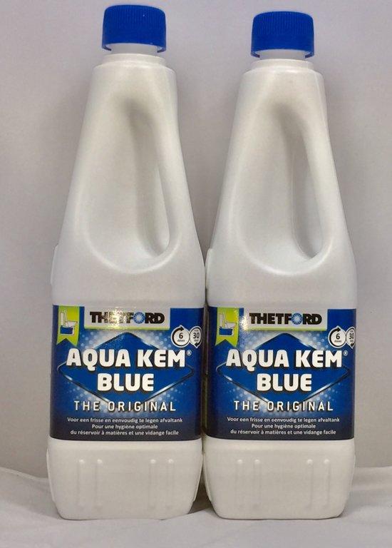 2 x Thetford Aqua Kem Blue - Afvaltankvloeistof - 1 Liter