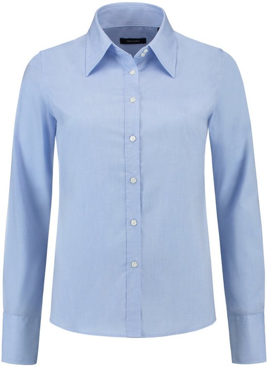 Tricorp Dames blouse Oxford basic-fit - Corporate - 705001 - Blauw - maat 50