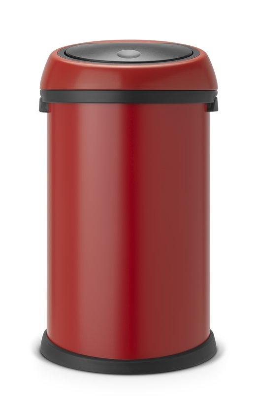 Brabantia Touch Bin Afvalverzamelaar 30 Liter.Afvalverzamelaar 50 Liter Touch Bin Deep Red