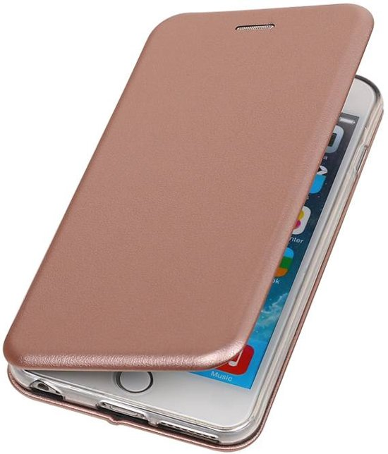 Apple iPhone 6 Plus / 6s Plus Folio TPU hoes Roze in Werendijke