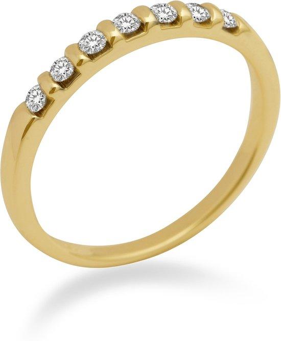 Majestine Alliance - Ring - 14 Karaat (585) - Geelgoud Met Diamant 0.15ct