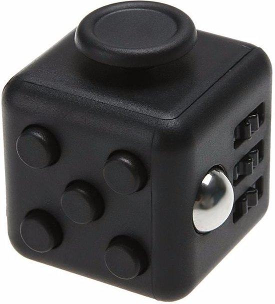 Fidget cube zwart 4 cm